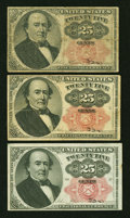 Fractional Currency:Fifth Issue, Fr. 1308 25¢ Fifth Issue Very Good or Better. Three Examples....(Total: 3 notes)