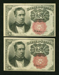 Fractional Currency:Fifth Issue, Fr. 1266 10¢ Fifth Issue Extremely Fine. Two Examples.... (Total: 2notes)