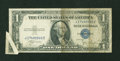 Error Notes:Attached Tabs, Fr. 1612 $1 1935C Silver Certificate. Fine.. ...