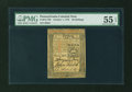 Colonial Notes:Pennsylvania, Pennsylvania October 1, 1773 20s PMG About Uncirculated 55 EPQ....