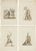 Antiques:Posters & Prints, Group of Twenty 1654 Copperplate Illustrations Depicting MedievalSubjects. 7.75 inches x 11.25 inches.... (Total: 20 Items)