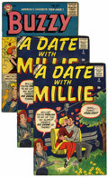 Silver Age (1956-1969):Romance, A Date With Millie #3 Plus Group (Atlas, 1956-59) Condition:Average VG/FN.... (Total: 4 Comic Books)