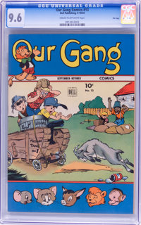 Our Gang Comics #13 File Copy (Dell, 1944) CGC NM+ 9.6 Cream to off-white pages