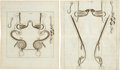 Antiques:Posters & Prints, Group of Five Double Page Copper Plate Engraved Illustrations of Horse Bridles Circa 1678.... (Total: 5 Items)