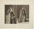 Antiques:Posters & Prints, Cornelis de Bruin. Excellent Copper Engraving with Two Views of a Russian Woman from 1711. 19 x 16 inches overall. Fine cond...