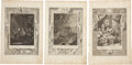 Antiques:Posters & Prints, Lot of Three Bernard Picart Engravings Depicting Scenes From Classical Mythology.... (Total: 3 Items)