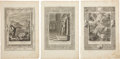 Antiques:Posters & Prints, Three Bernard Picart Engravings Depicting Scenes From ClassicalMythology.... (Total: 3 Items)
