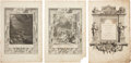 Antiques:Posters & Prints, Trio of Bernard Picart Engravings Depicting Scenes From ClassicalMythology.... (Total: 3 Items)