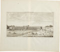 Antiques:Posters & Prints, Cornelis de Bruin: 1711 Double-Page Copper Engraved Plate of Khaju Bridge in Isfahan Iran. Plate size: 18.5 x 16 inches over...