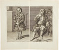 Antiques:Posters & Prints, Cornelis de Bruin. Excellent Double-page Copper Engraving withViews of a Samoyed Woman and Man from 1711. 18.5 x 16 inches ...