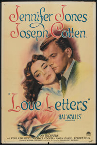"""Love Letters (Paramount, 1945). One Sheet (27"""" X 41""""). Drama"""