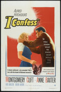 "Movie Posters:Hitchcock, I Confess (Warner Brothers, 1953). One Sheet (27"" X 41"").Hitchcock.. ..."