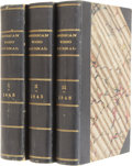 Books:First Editions, [Edgar Allan Poe]. The American Review: A Whig Journal ofPolitics, Literature, Art and Science. New York: Wiley...(Total: 3 Items)