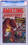 Silver Age (1956-1969):Horror, Amazing Adventures #3 (Marvel, 1961) CGC VF- 7.5 Cream to off-whitepages....