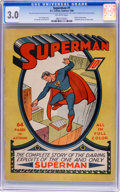 Golden Age (1938-1955):Superhero, Superman #1 (DC, 1939) CGC GD/VG 3.0 Off-white pages....
