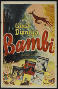 "Movie Posters:Animated, Bambi (RKO, R-1948). One Sheet (27"" X 41""). Animated. StarringBobby Stewart, Donnie Dunagan, Hardie Albright, John Sutherla..."