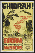 "Movie Posters:Science Fiction, Ghidrah, the Three-Headed Monster (Continental Distributing, 1965).One Sheet (27"" X 41""). Science Fiction. Starring Yosuke ..."