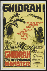 """Ghidrah, the Three-Headed Monster (Continental Distributing, 1965). One Sheet (27"""" X 41""""). Science Fiction. St..."""