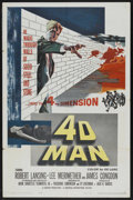 "Movie Posters:Science Fiction, 4D Man (Universal International, 1959). One Sheet (27"" X 41"").Science Fiction. Starring Robert Lansing, Lee Meriwether, Jam..."