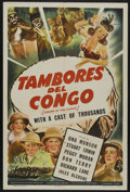 "Movie Posters:Adventure, Drums of the Congo (Universal, 1942). Spanish Language One Sheet(27"" X 41""). Adventure. Starring Ona Munson, Stuart Erwin, ..."