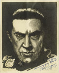"Movie/TV Memorabilia:Autographs and Signed Items, Bela Lugosi Signed ""Dracula"" Print. Bela Lugosi's performance asDracula in the 1932 eponymous horror classic defined his ca...(Total: 1 Item)"