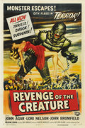 "Movie Posters:Science Fiction, Revenge of the Creature (Universal, 1955). One Sheet (27"" X 41""). ..."