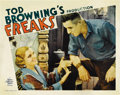 "Movie Posters:Horror, Freaks (MGM, 1932). Lobby Card (11"" X 14""). ..."