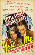 """Movie Posters:Drama, You and Me (Paramount, 1938). Window Card (14"""" X 22""""). ..."""