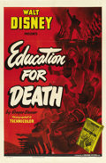 "Movie Posters:Animated, Education for Death (RKO, 1943). One Sheet (27"" X 41""). ..."