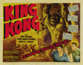 "Movie Posters:Horror, King Kong (RKO, R-1942). Half Sheet (22"" X 28"") Style A...."
