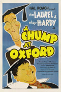 "Movie Posters:Comedy, A Chump at Oxford (United Artists, 1940). One Sheet (27"" X 41"")...."