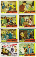 "Movie Posters:Western, Angel and the Badman (Republic, 1947). Lobby Card Set of 8 (11"" X14""). ... (Total: 8 Items)"
