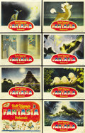 "Movie Posters:Animated, Fantasia (RKO, 1940). Lobby Card Set of 8 (11"" X 14""). ... (Total:8 Items)"