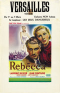 """Movie Posters:Hitchcock, Rebecca (United Artists, R-1950s). Belgian (14"""" X 22""""). ..."""