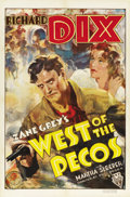 """Movie Posters:Western, West of the Pecos (RKO, 1935). One Sheet (27"""" X 41""""). ..."""