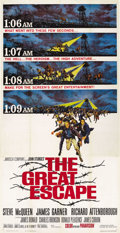 "Movie Posters:War, The Great Escape (United Artists, 1963). Three Sheet (41"" X 81"")...."