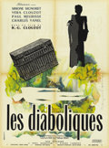 """Movie Posters:Mystery, Les Diaboliques (Cinedis, 1955). French Petite (23.5"""" X 31.5"""")...."""