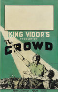 "Movie Posters:Drama, The Crowd (MGM, 1928). Window Card (14"" X 22"")...."