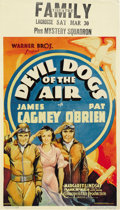"Movie Posters:Action, Devil Dogs of the Air (Warner Brothers, 1935). Midget Window Card(8"" X 14""). ..."