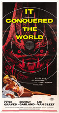 """Movie Posters:Science Fiction, It Conquered the World (American International, 1956). Three Sheet (41"""" X 81""""). ..."""