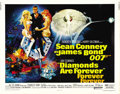 "Movie Posters:James Bond, Diamonds are Forever (United Artists, 1971). Half Sheet (22"" X 28""). ..."