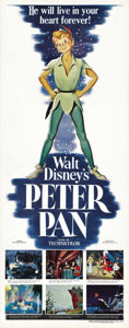"Movie Posters:Animated, Peter Pan (RKO, 1953). Insert (14"" X 36"")...."
