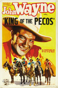 "Movie Posters:Western, King of the Pecos (Republic, 1936). One Sheet (27"" X 41""). ..."