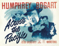 """Movie Posters:War, Across the Pacific (Warner Brothers, 1942). Half Sheet (22"""" X 28"""") Style A. ..."""