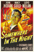 """Movie Posters:Film Noir, Somewhere in the Night (20th Century Fox, 1946). One Sheet (27"""" X41""""). ..."""
