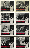 """Movie Posters:Foreign, La Dolce Vita (Cineriz, 1961). Lobby Card Set of 8 (11"""" X 14""""). ... (Total: 8 Items)"""