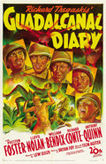"Movie Posters:War, Guadalcanal Diary (20th Century Fox, 1943). One Sheet (27"" X 41"")...."