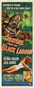 "Movie Posters:Horror, Creature from the Black Lagoon (Universal International, 1954).Insert (14"" X 36""). ..."