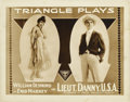 "Movie Posters:Adventure, Lieut. Danny, USA (Triangle Plays, 1916). Title Lobby Card andLobby Card (11"" X 14""). ... (Total: 2 Items)"
