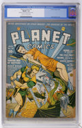 Golden Age (1938-1955):Science Fiction, Planet Comics #18 (Fiction House, 1942) CGC FN/VF 7.0 Cream tooff-white pages. Dan Zolnerowich turns in a great cover featu...